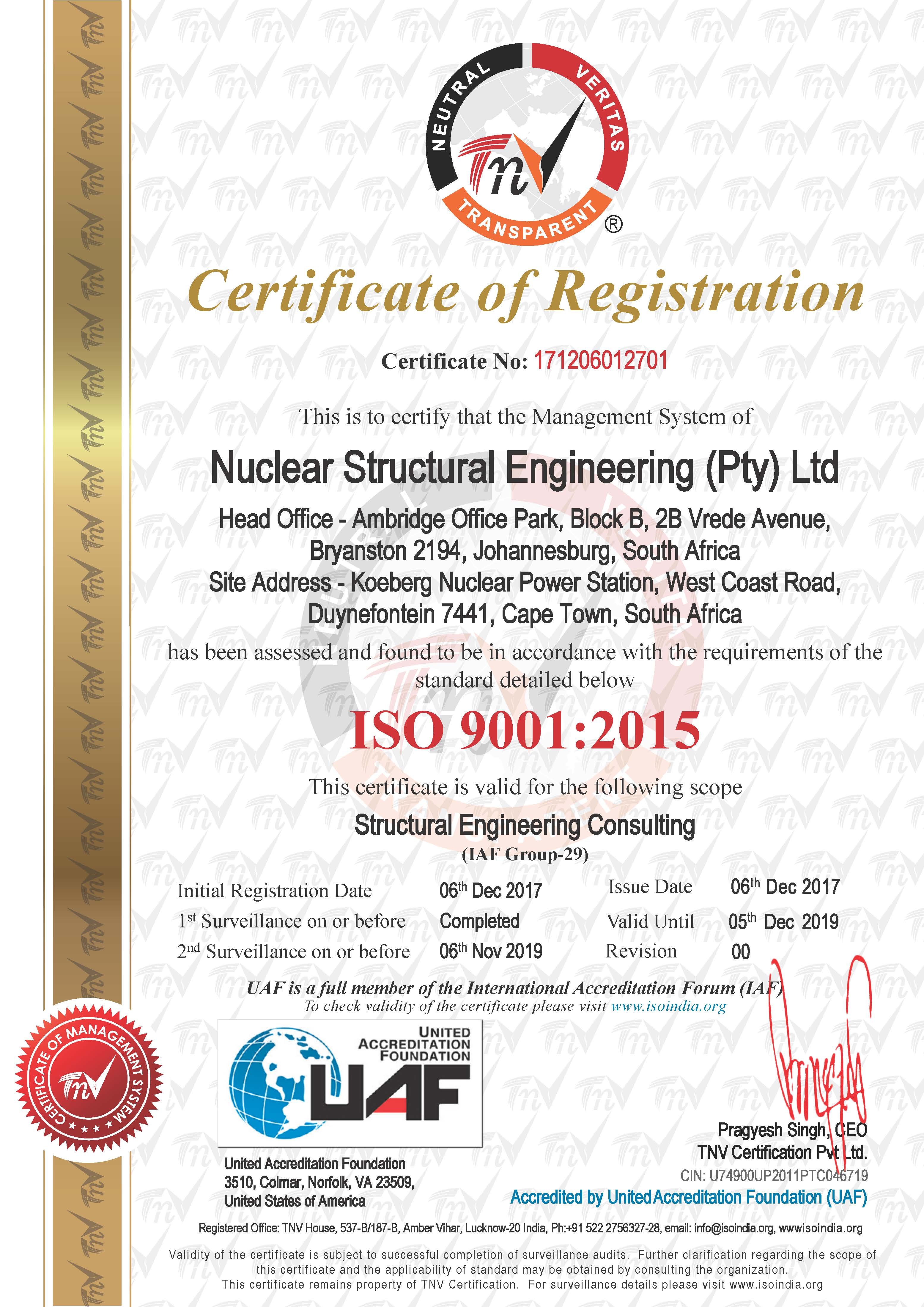 Nuclear Structural Engineering ISO